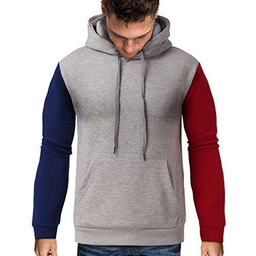 SIOPEW Kapuzenpullover Herren Mit Kapuze Winter Basic Style Sweatshirt Warme Langarm Top Tee Outwear Bluse Sweatjacke Casual Sport Pullover