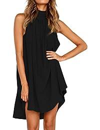 723275c71b8c0 Trada Donne Magliette Senza Maniche Trada Vestito Estivo da Spiaggia Vestito  Elegante Tuta da Donna Vestito da Festa Casual