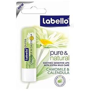 Labello Pure & Natural alla camomilla e calendula Lip Balm 4.8G by Labello