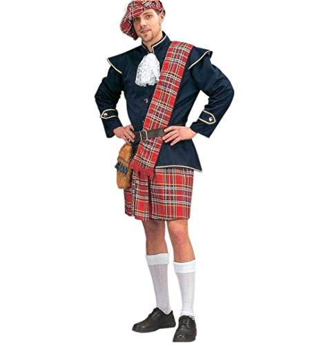 KarnevalsTeufel Schottenrock für Herren inklusive Schärpe und Mütze (XXXL)