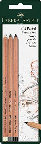 Faber-Castell 112795 – Set de 3 lápices Pitt Monochrome