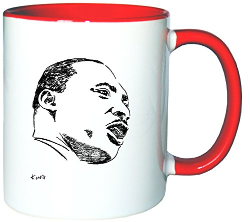 Price comparison product image Mister Merchandise Mug Coffee Pot Martin Luther King Side Teacup Cup many colors