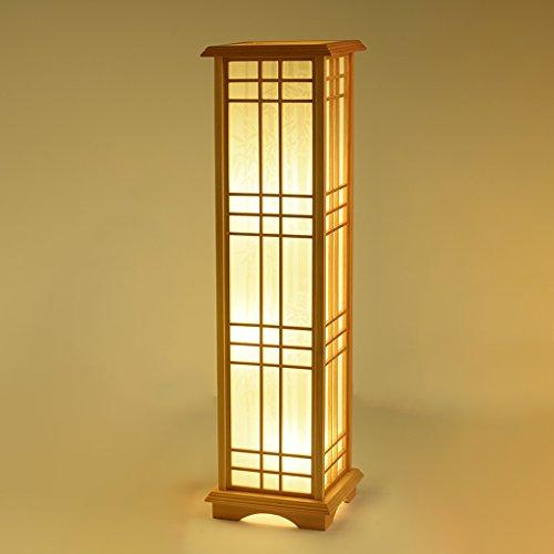 Lampada da terra verticale, lampada da terra a led geometrica in legno massello creativo, camera da letto soggiorno a tema 9 luci a libro di carta (giallo) huacang ( colore : white light )
