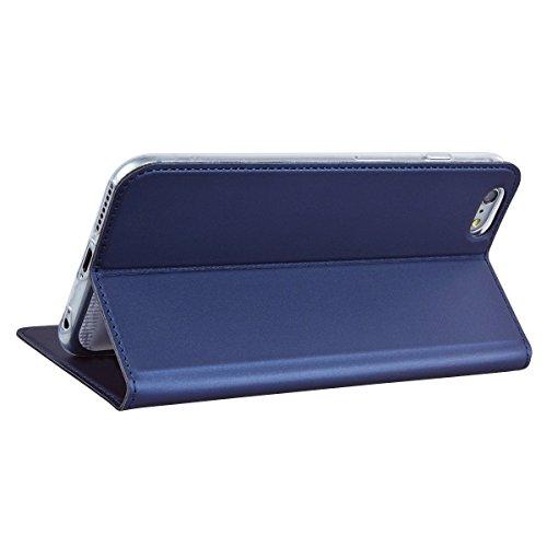 """Vintage Coque iPhone 6 Plus (5.5""""), Solaxi Etui Protection Porte-cartes PU Cuir Portefeuille Élégant Housse Rabattable Fermeture Magnétique Case Cover pour Apple iPhone 6 Plus / 6S Plus - Gris Bleu"""