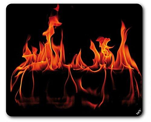 Preisvergleich Produktbild 1art1 93959 Feuer - Warmes Kaminfeuer Mauspad 23 x 19 cm