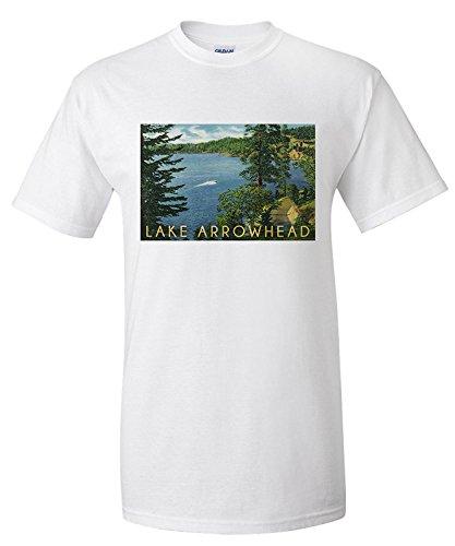 lake-arrowhead-california-view-towards-the-north-shore-premium-t-shirt