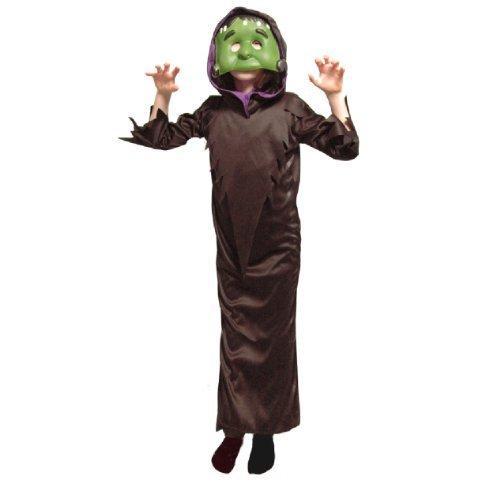 Kinder Halloween Maske Mädchen Jungen Kostüm Zubehör - grün Frankenstein, 8-10 years