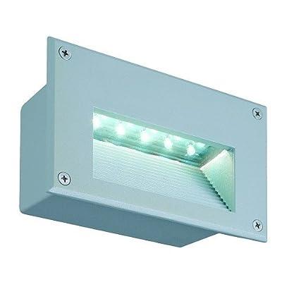 SLV Brick LED Downunder Wandleuchte, rechteckig, silbergrau, weiße LED 229701 von SLV auf Lampenhans.de