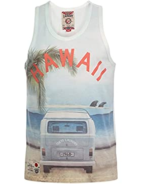 Chaleco Para Hombre Mason Cove Tokyo Laundry Nuevo Sin Mangas Singlet Hawaii Verano Camiseta De Tirantes