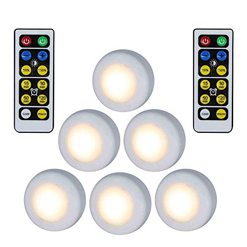 EBILUN Kabellos LED Puck Licht W/Fernbedienung dimmbare Nachtlicht Lampe - Tippen Led-licht