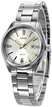Casio Women's Analog Dial Stainless Steel Band W