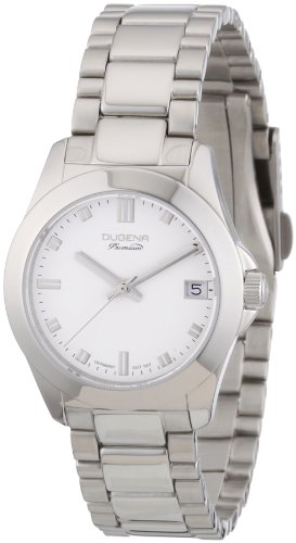 Dugena Women's Quartz Analogue Watch Dugena Premium 7000127 Stainless Steel Strap, Silver