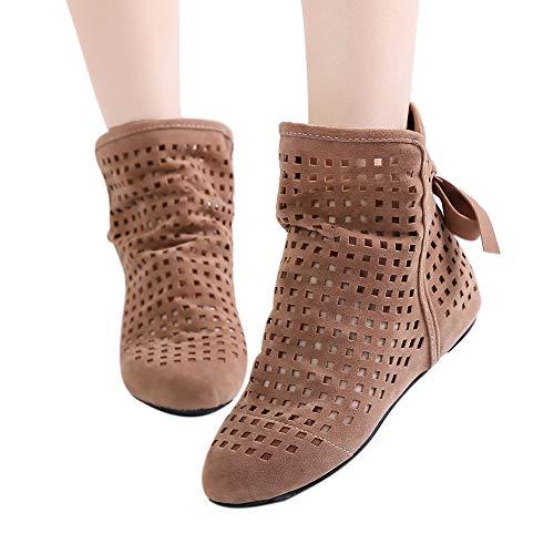 511942c13e0e14 Discount Boots Cutout Ankle Boots - OverDose Women Boots Flat Low Hidden  Wedges Cutout Ankle Boots