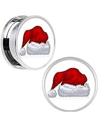 BodyCandy Acero Inoxidable Vacaciones Gorro Papa Noel Plug, Dilatación Par 20mm