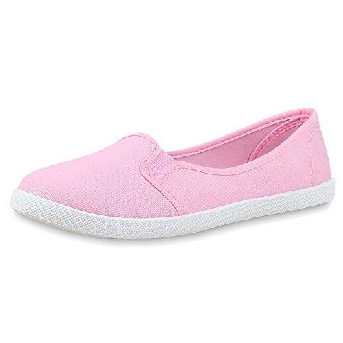 best-boots Damen Ballerinas Sneaker Schnürer Slipper Halbschuhe Sportlich Damen Sneakers Rosa Nuovo 37 (Sportliche Sneakers Rosa)