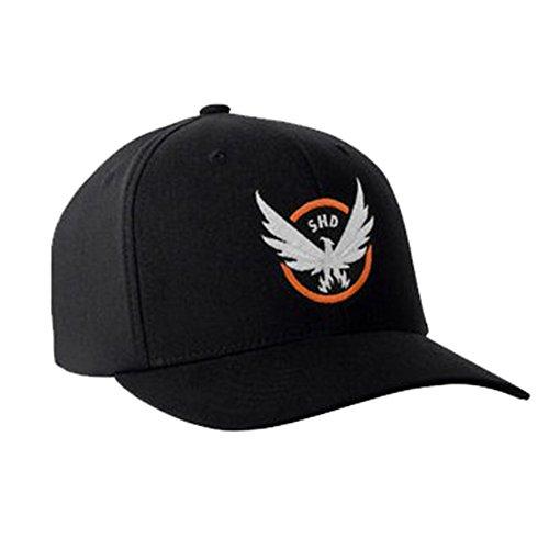 Preisvergleich Produktbild Herren Schwarz Hut Kostüm Art und Weise kühle Baseball Cap Verstellbar Spiel Cosplay Zubehör