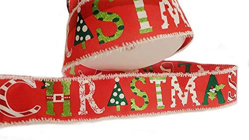 Holiday Weihnachtsband mit Draht, 15,2 m, Rot