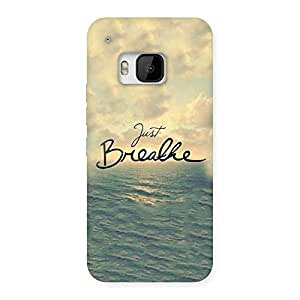 Cute Just Breath Multicolor Back Case Cover for HTC One M9