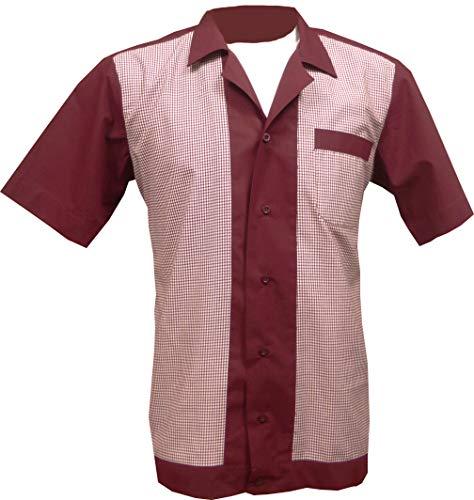 1950s / Sechzigerjahre Rockabilly, Bowling, Retro, Vintages Hemd der Männer (XXX-Groß)