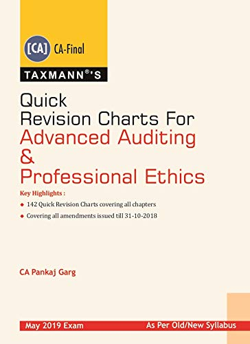 Quick Revision Charts For Advanced Auditing & Professional Ethics(CA-Final)(January 2019 Edition)(For May 2019 Exam- Old/New Syllabus)