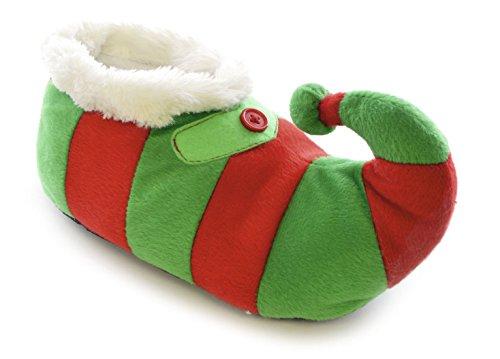 Boys Girls Kids SlumberzzZ 3D Xmas Elf Pixie Novelty Boot Slippers FT0690