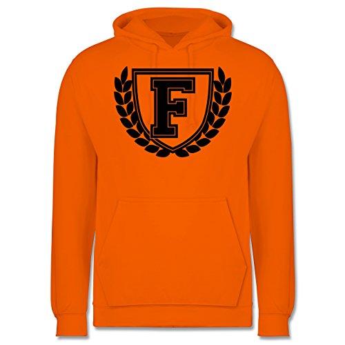 Anfangsbuchstaben - F Collegestyle - Männer Premium Kapuzenpullover / Hoodie Orange