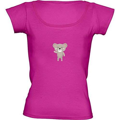 t-shirt-rose-fushia-pour-femme-col-rond-taille-s-ondulation-amicale-by-ilovecotton