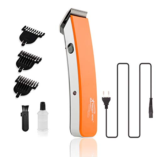 Perfect Nova (Device Of Man) PNHT-9046 Rechargeable Cordless Beard Trimmer for Men (Orange)
