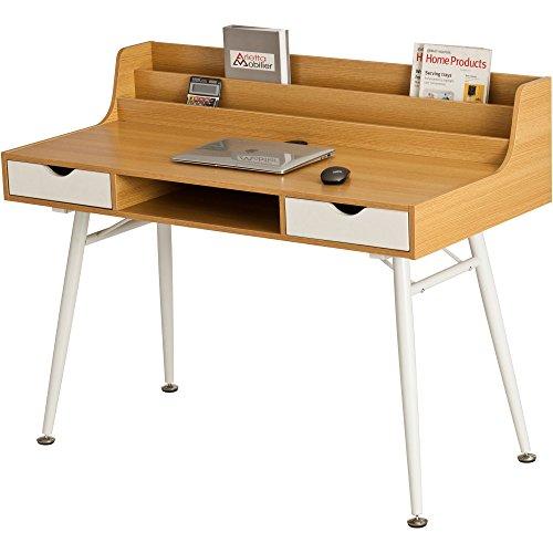Retro style computer desk home office laptop writing for Computer bureau