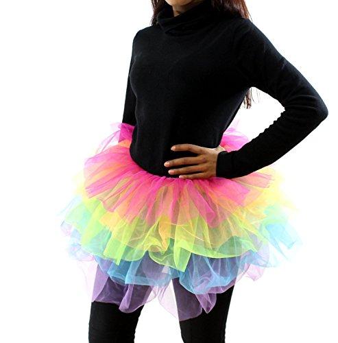 Zac's Alter Ego® 5-Layer Mini Rainbow Tutu for 80s, Rave, Carnivals