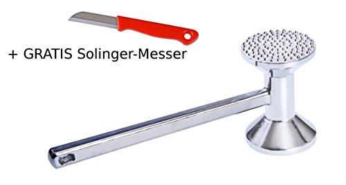 GRÄWE Fleischhammer 28 cm schwer 635 g Aluminium Fleischklopfer mit 2 Bearbeitungsseiten