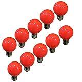 E27 Bombilla LED colorida, g60 led Lámpara,3W Color Edison Cap Nut Luz LED, Lámpara de ahorro de energía de color mezclado, 300LM, AC220V-240V, Día festivo, Fiesta, Navidad