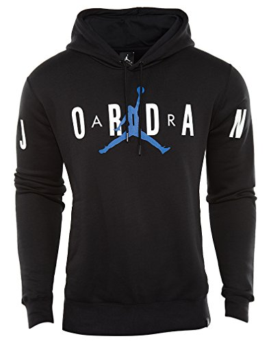 Jordan Jordan Flight Fleece Graphic Pullover mens athletic-sweatshirts 834371-011_XL - Black/White Jordan Mens Fleece