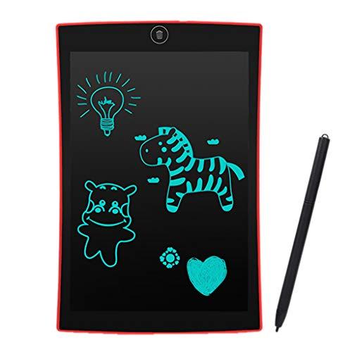 Bescita LCD Schreibtafel, 9,5 Zoll Elektronisches Zeichenbrett und Maltafel Zaubertafel für Kinder & Erwachsene, Schreib und Skizzen Pad für Schule und Büro (Rot)
