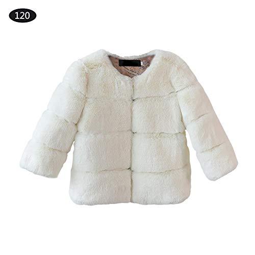 Bulary cappotti in pelliccia sintetica neonate cappotti giacca calda cappotto senza maniche di moda di lusso cappotto per bambini autunno e inverno carino e caldo
