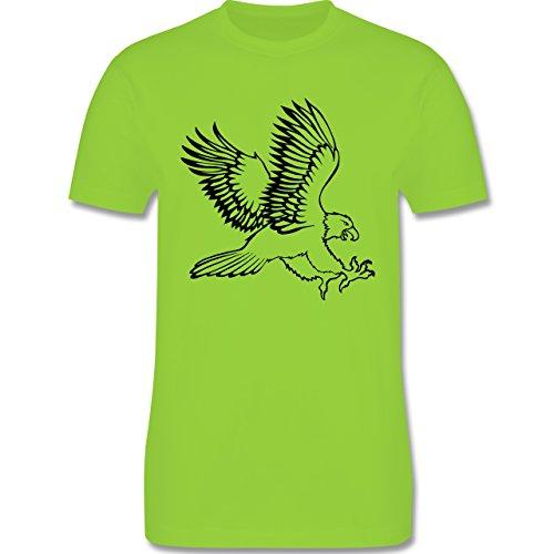 Vögel - Adler - Herren Premium T-Shirt Hellgrün