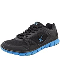 HRX Men's Black And Blue Leather Running Shoes