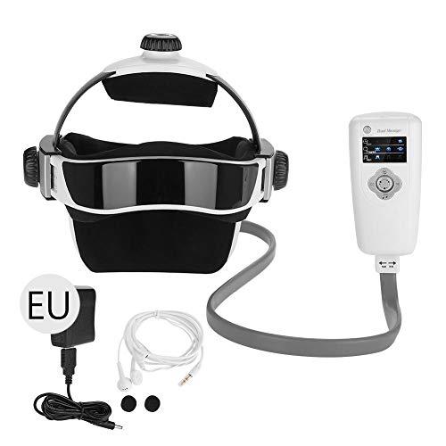 Elektrische Kopfmusik Massagegerät Druck Vibration Helm Akupunktur Gehirn Entspannen Massagegerät Beruhigender Stress Fördern Sie den Schlaf