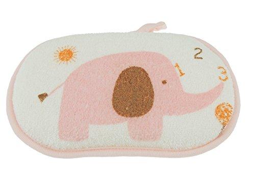 Niedliche Baby Jungen Mädchen Terry Baumwolle Elefant Bad Fun Schwamm Gr. One Size, rose (Safari Waschlappen)