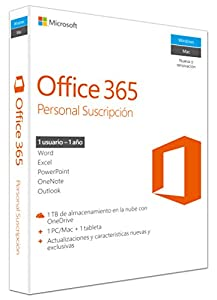 office 365 personal: Microsoft - Office 365 Personal 1 PC/Mac + 1 Tableta, 1 año