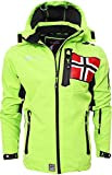 Geographical Norway - Giacca Softshell da Uomo, Fino a 5XL Verde XL