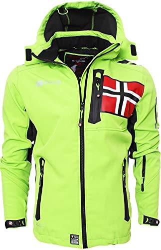 Geographical Norway Herren Softshell Jacke Funktions Outdoor, Grün - XL
