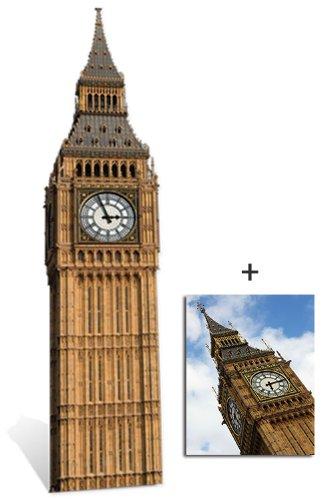 Big Ben (Clock) - Lebensgrosse Pappfiguren / Stehplatzinhaber / Aufsteller - Enthält 8X10 (25X20Cm) foto
