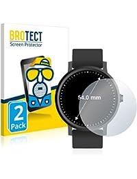 BROTECT Protector Pantalla Anti-Reflejos Compatible con Relojes (Circular, Diámetro: 54 mm) (2 Unidades) Pelicula Mate Anti-Huellas