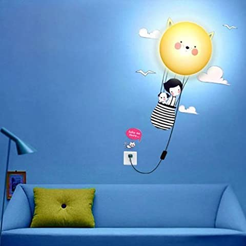 Andonger Vivere Wallpaper lampada della luce della parete della stanza principale del fumetto 3D Home Decorazione moderna (Journey)