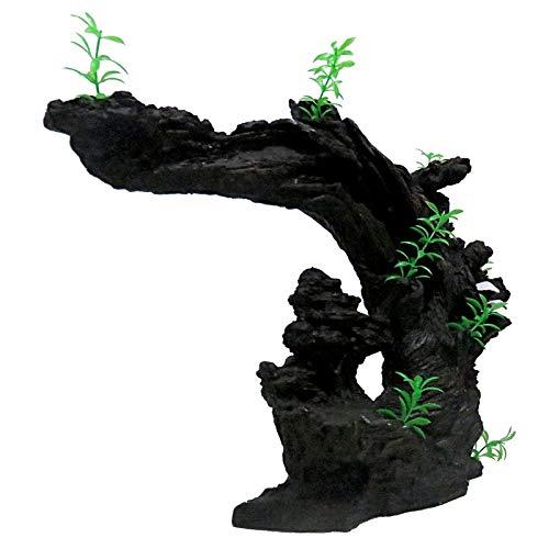 Powzz ornament ornamentale ornamentali ornamenti per acquario, simulazione del paesaggio acquatico, vegetazione acquatica, rockery, serbatoi di pesci finti