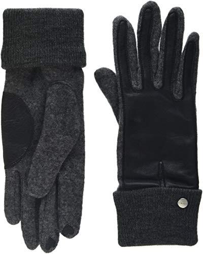 ESPRIT Accessoires Damen Handschuhe 108EA1R003, Grau (Anthracite 010), Medium