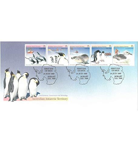 Goldhahn Australische Gebiete in der Antartis Nr. 79-83 FDC Ersttagsbrief Tiere Briefmarken für Sammler -