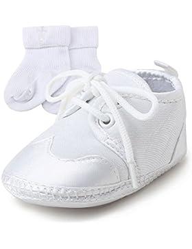[Gesponsert]Delebao Baby Taufe Schuhe Taufschuhe Babyschuhe Turnschuhe Krabbelschuhe Weiche Sohle Weiße Schnüren für Mädchen...
