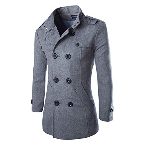 Hombres Oto?o Invierno Doble Fila Botš®n Abrigo Top Blusa Chaqueta Hombres Jacket Outerwear Tops Blazer...